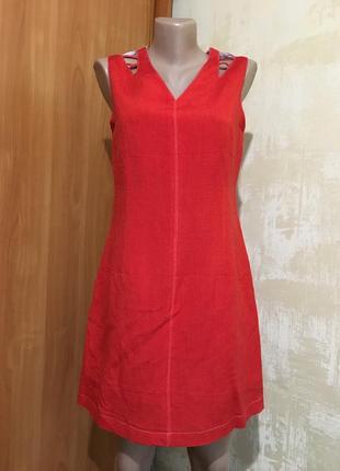 Интересное льняное платье!!