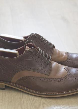 Мужские туфли броги оригинал кожа