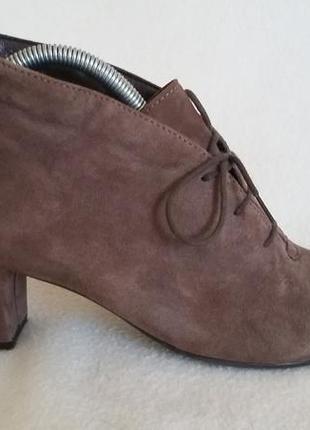 Замшевые ботинки, ботильоны фирмы 5 th avenue freeflex ( германия) p. 39 стелька 25,5 см