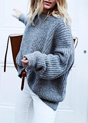 Свитер topshop. серый свитер. базовый свитер.крутой свитер. вязанный свитер