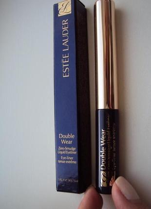 Стойкая подводка для глаз estee lauder double wear zero-smudge liquid eyeliner