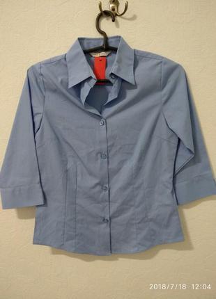Школьная рубашка 3/4рукав для девочки marks & spencer  10-11 лет
