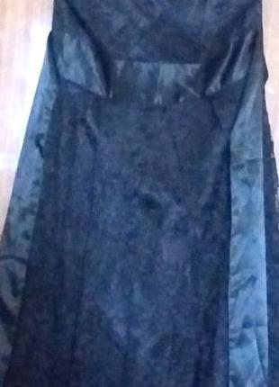Платье гепюровое черное vila clothes
