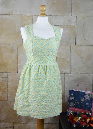 Акция 1+1=3! -платье boohoo с красивой спинкой и юбкой солнце -на подкладке
