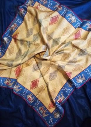 Брендовый шелковый платок шелк