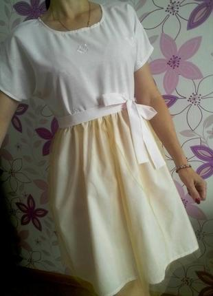 Нежно розовое платье с фатиновой юбкой