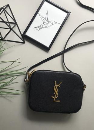 Натуральная кожаная сумка через плечо yves saint laurent /маленькая сумка