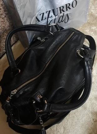 Оригинал брендовая итальянская кожаная сумка 100% натуральная кожа leather fashion