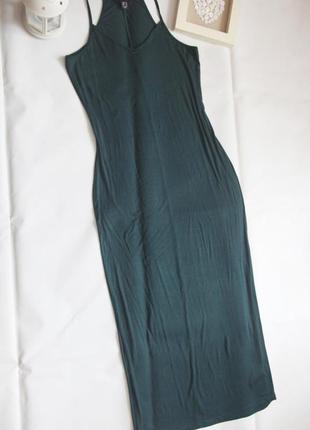 Длинное базовое платье макси на бретелях
