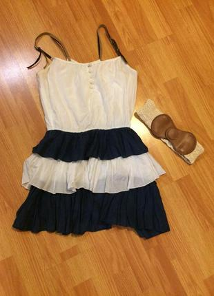 Морское турецкое платье 💙
