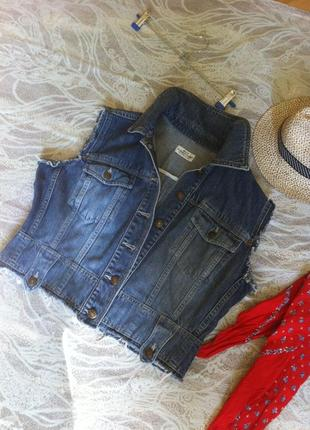 Стильная джинсовая безрукавка_xl-xxl_best connection