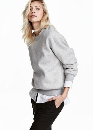 Свитшот теплая кофта h&m, m свитер
