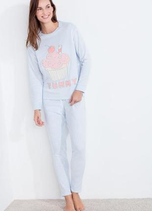 Теплая флисовая пижама women'secret, размер xs