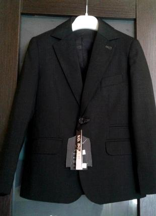 Школьная форма, костюм, пиджак, жилет bozer. размер 30, 122-128см