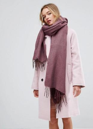 Длинный шарф марсала с кисточками asos
