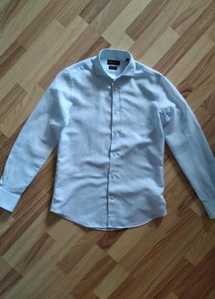Рубашка мужская massimo dutti (лен)