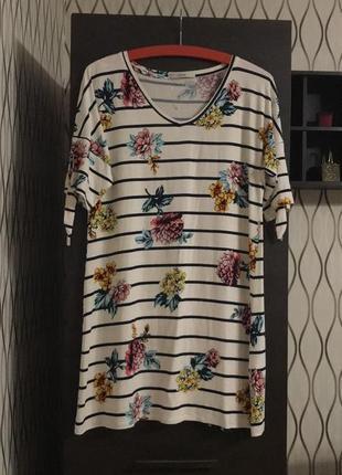 Удлиненная футболка мини платье george, новая!