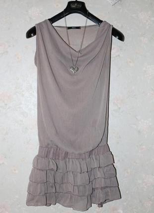Красивое платье шифон италия