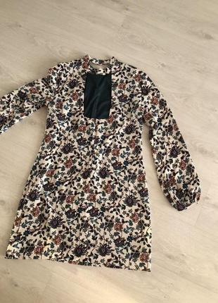 Платье zara в цветочек