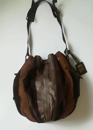 Отличная кожаная сумка - торба