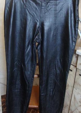 Штаны брюки черные кожзам canbio 38 m 51%полиуретан, 32%полиэстер, 17%котон
