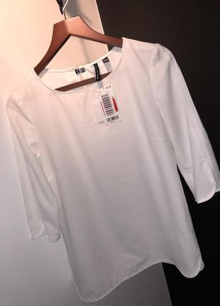 Білосніжна блуза mango на ярлику розмір s