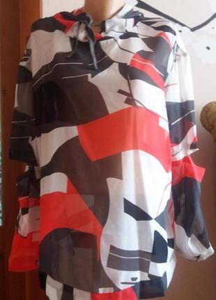 Шифонова блуза блузка з капюшоном