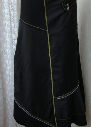 Юбка черная модная красивая демисезонная i.quing р.42 №6108а