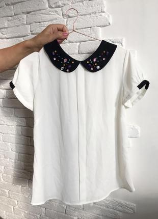 Шифоновая блузка с воротничком