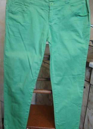 Штаны брюки зеленые s/m 100%котон