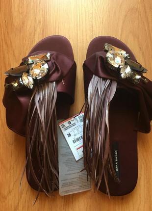 Продам новые шлепки сандалии босоножки zara