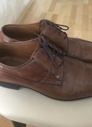 Модельные мужские туфли gino rossi 43p.