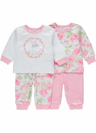 Комплект пижамок для малышки george р.18-24 мес