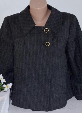Брендовое демисезонное тонкое  серое пальто полупальто пиджак snob