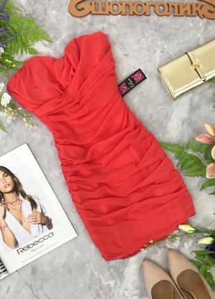 Яркое коктельное платье с драпировкой  dr1829002  rare