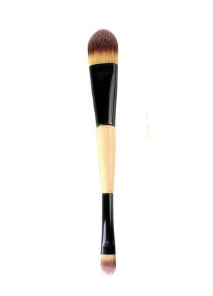 Кисть для макияжа (двойная), для тональной основы, корректора, консиллера