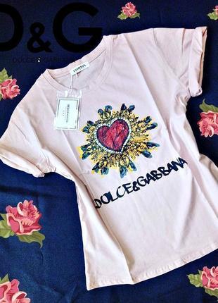 Стильная футболка с принтом сердца .🌺🛍🎀 новая коллекция!🌞🎉📦