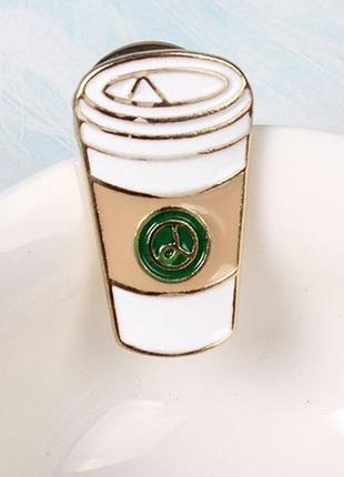 Патч металлический кофе
