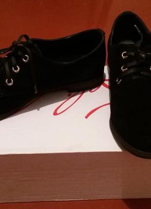 Туфли замшевые на шнурках1 фото