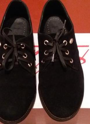 Туфли замшевые на шнурках2 фото