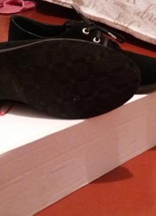 Туфли замшевые на шнурках3 фото