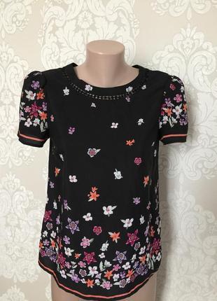 Блуза с коротким рукавом/ блуза в цветы