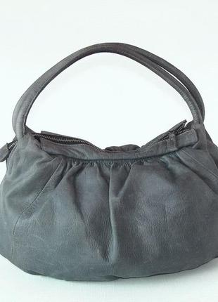 Классная сумка cat & co, натуральная кожа