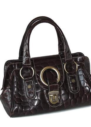 Интересная эффектная сумка david jones, франция, натуральная кожа