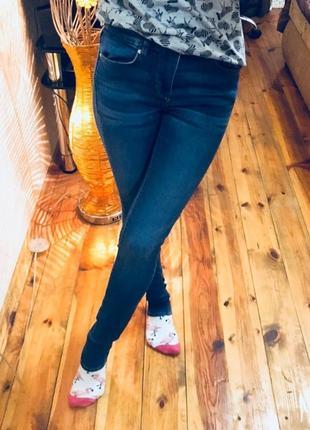 Скинни джинсы синего цвета h&m divided