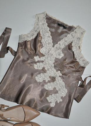 Фирменная блуза vila в бельевом стиле
