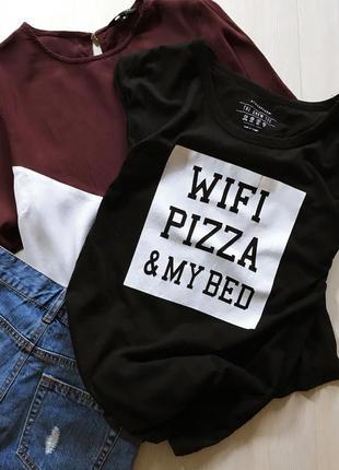 Крутейшая футболка в принт с надписью atm