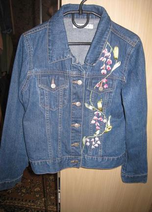 Куртка джинсовая для девочки р.140-146