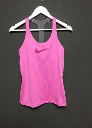 Супер топ майка спортивная nike оригинал розовая для фитнеса с лифом adidas, puma