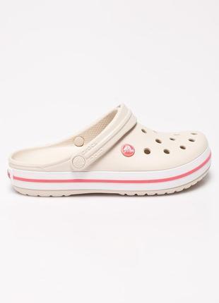 Новые бежевые кроксы crocs